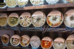 Магазин-окно с здоровой едой моря Стоковое Изображение RF