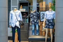 Магазин орла AE американский на мега Bangna, Бангкоке, Таиланде, 30-ое августа стоковое фото rf