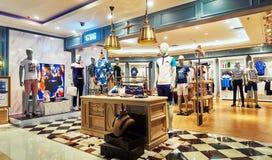 Магазин одежды людей Стоковые Изображения RF