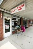 Магазин парикмахера в держателе воздушном Стоковая Фотография