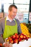 магазин персиков бакалеи стоковое изображение