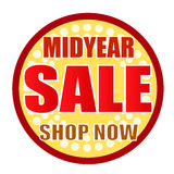 Магазин продажи середины года теперь объезжает иллюстрация вектора