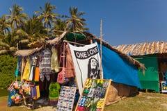 Магазин пляжа, Morjim Стоковые Фотографии RF
