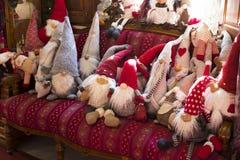 Магазин рождества сувениров и ювелирных изделий в городке Sainte-Andr в Венгрии Стоковое Изображение