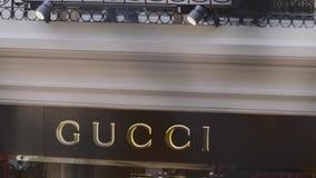 Магазин розничной торговли Gucci видеоматериал