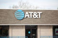 Магазин розничной торговли AT&T AT&T Inc американские Радиосвязи Корпорация IX стоковые фото