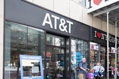 Магазин розничной торговли AT&T AT&T Inc американские Радиосвязи Корпорация IX стоковые изображения rf
