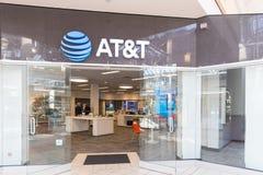 Магазин розничной торговли AT&T AT&T Inc американские Радиосвязи Корпорация IX стоковая фотография