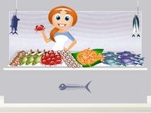 магазин рыб иллюстрация вектора