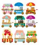 магазин рынка иконы собрания шаржа автомобиля иллюстрация штока