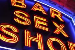 магазин секса Стоковое фото RF