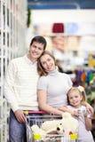 магазин семьи счастливый Стоковое Изображение RF