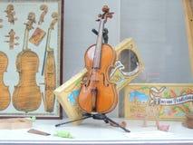 Магазин скрипки исторический Стоковые Фото