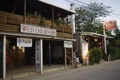 Магазин скубы на острове Roatan Стоковые Изображения RF