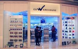 Магазин склада КОМПАКТНОГО ДИСКА в Гонконге Стоковое фото RF