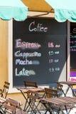 магазин снаружи кофе Стоковое фото RF
