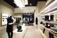 Магазин современных и моды одежд Стоковое Изображение
