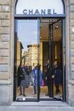 Магазин способа Chanel кокосов в Италии Стоковые Фото