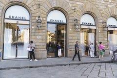 Магазин способа Chanel кокосов в Италии Стоковое Фото