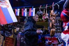 Магазин стороны улицы в Белграде стоковое фото rf