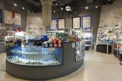 Магазин сувенира аквариума Стоковое Фото