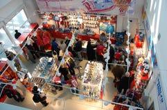 Магазин сувенира на XII Олимпийских Играх Сочи 2014 зимы Стоковое Изображение