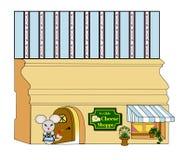 Магазин сыра ` s мыши Millie Стоковая Фотография