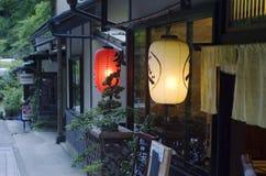 Магазин с фонариками в Kibune, Японии Стоковые Изображения RF