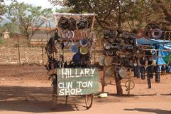 Магазин Танзания Том Wurl Хиллари Клинтон Стоковое фото RF