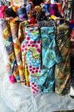 Магазин ткани ткани Стоковая Фотография
