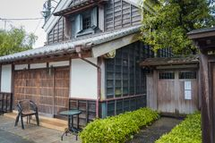 Магазин традиции в деревне Sawara в Katori, Chiba, Японии стоковые фотографии rf