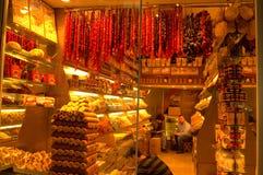 Магазин турецких наслаждений Стоковая Фотография RF