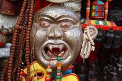 Магазин улицы маски Nepali Стоковое Изображение RF