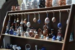 магазин улицы сувениров и handmade товаров Керамический, porceliane стоковое изображение