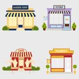 Магазин улицы рынка иллюстрация вектора