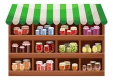 Магазин фермера варенья ягоды Стоковое Изображение