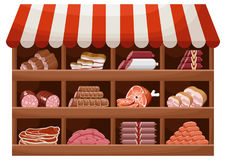 Магазин фермера мяса Стоковая Фотография
