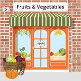 Магазин фруктов и овощей бесплатная иллюстрация