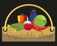 Магазин шильдика vegetable Стоковое фото RF