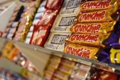 магазин шоколада конфеты 2 штанг Стоковое Изображение
