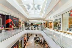 Магазин людей в моле роскоши города покупок вены Стоковое Изображение