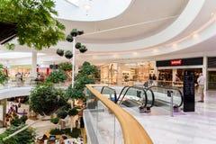 Магазин людей в моле роскоши города покупок вены Стоковые Фотографии RF