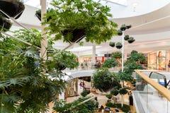 Магазин людей в моле роскоши города покупок вены Стоковые Фото
