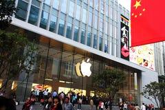 Магазин Яблока в Шанхае стоковые изображения