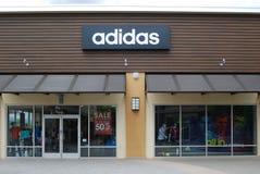 Магазин Adidas Стоковые Изображения RF