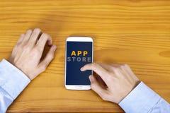 Магазин App Стоковые Фотографии RF