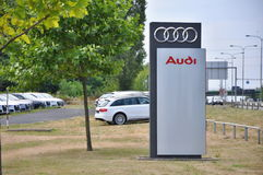 Магазин Audi автомобиля Стоковое фото RF
