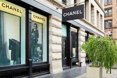 Магазин Chanel роскошный в St 139 весен, Soho, Нью-Йорке Стоковое Изображение RF