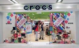 Магазин Crocs в Гонконге Стоковое фото RF