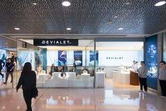 Магазин Devialet в моле Гонконга IFC Стоковая Фотография